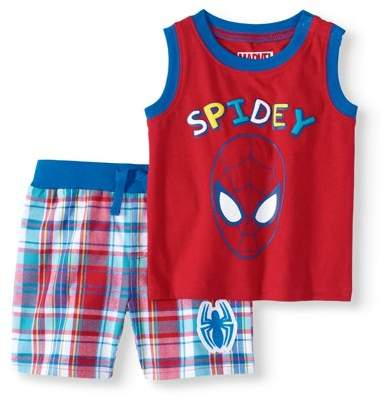 Spider-Man Baby Boy Tank Top & Shorts, 2pc Outfit Set