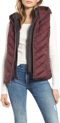 Andrew Marc Hooded Puffer Vest