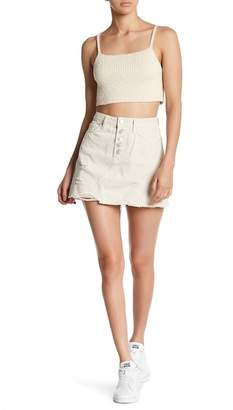 Free People We the Free by Destroyed Denim Miniskirt