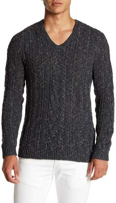 John Varvatos Collection V-Neck Saddle Shoulder Sweater