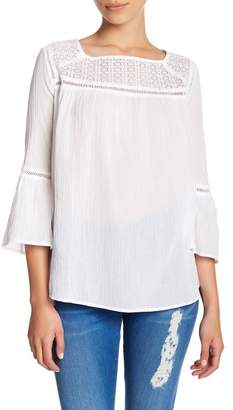 Joe Fresh Crochet Lace Yoke Blouse