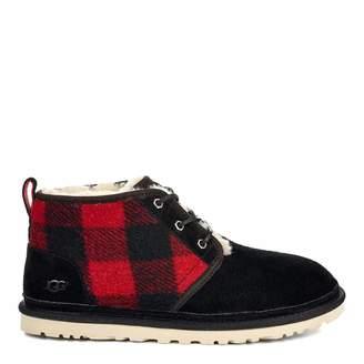 Men's Black Plaid Neumel Boots