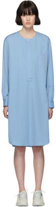 Comme des Garcons Blue Poplin Long Shirt Dress