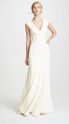 Halston Cap Sleeve Gown