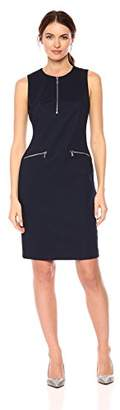 Calvin Klein Women's Textured Sheath with Zippers