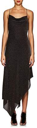 Juan Carlos Obando Women's Metallic Asymmetric Cowlneck Dress