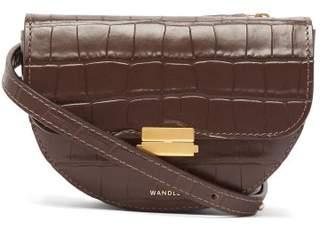 Com Wandler Anna Crocodile Effect Leather Belt Bag Womens Dark Brown