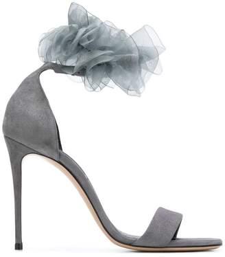 Casadei ruffle embellishment sandals