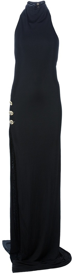 Balmain Side slit evening dress