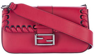FendiFendi 2016 Whipstitch Leather Baguette Bag w/ Tags