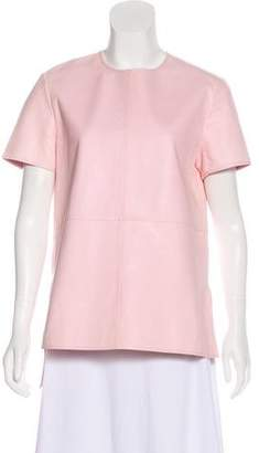 Givenchy Leather Short Sleeve Top