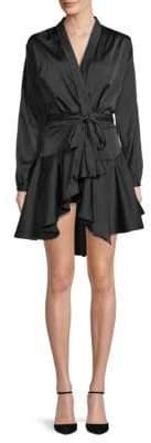 Asymmetric Kimono Wrap Dress