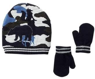 Little Me Reversible Animal Hat & Mittens Set