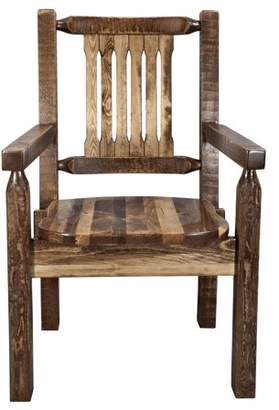 clear Montana Woodworks Homestead Collection Captain's Chair, Stain & Lacquer Finish w/ Ergonomic Wooden Seat
