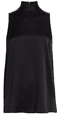 ATM Anthony Thomas Melillo Women's Hammered Sleeveless Silk Halter Top