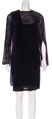 Akris Long Sleeve Mini Dress