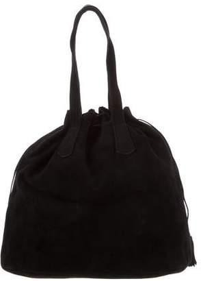 Manolo Blahnik Suede Handle Bag