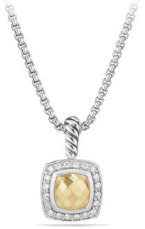 David Yurman Petite Albion Pendant Necklace with Gold Dome and Diamonds $695 thestylecure.com