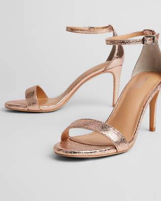 Express Metallic Low Heeled Sandals