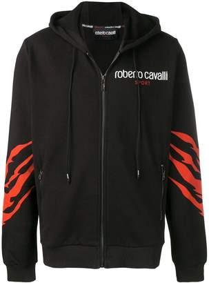 Roberto Cavalli panther print jacket