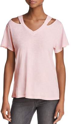 LnA Iceland Cutout Shoulder Tee - 100% Exclusive