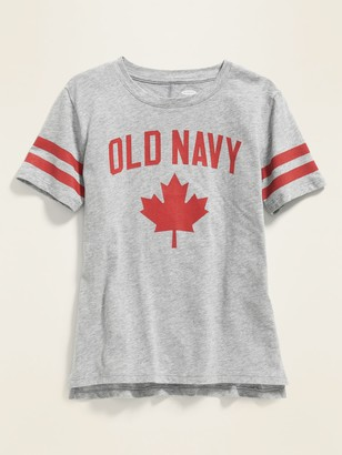 Old Navy Logo Maple Leaf Graphic Tunic Tee for Girls
