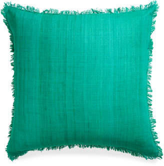 Jonathan Adler Solid Silk Frayed Edge Throw Pillow