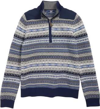 Vineyard Vines Fair Isle Half Zip Sweater