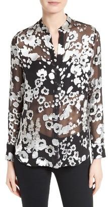 Women's Alice + Olivia Belle Print Sheer Oversize Tunic $330 thestylecure.com
