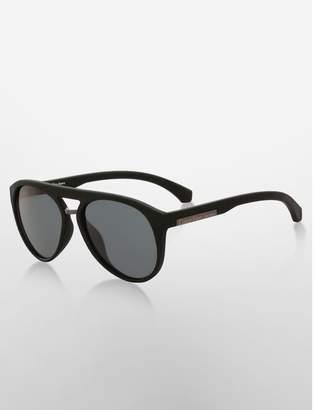 Calvin Klein aviator matte texture sunglasses