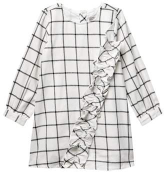 Calvin Klein Flannel Plaid Dress (Toddler Girls)