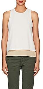 L'Agence Women's Catarina Silk Crepe Sleeveless Top