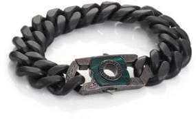 Stephen Webster Black Sapphire, Malachite& Sterling Silver Clasp