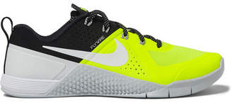 Nike Training Metcon 1 Neon Mesh And Rubber Sneakers