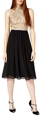 Phase Eight Collection 8 Elfreda Dress, Black/Camel
