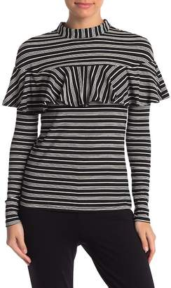 Flying Tomato Striped Ruffle Top