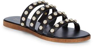 Saks Fifth Avenue Made in Italy Women's Pearl Leather Slides