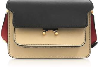 Marni Color Block Leather Mini Trunk Bag
