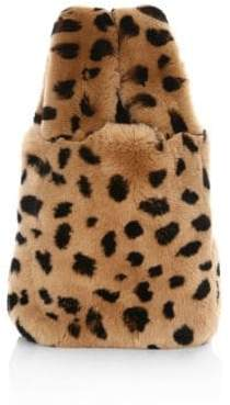 Pologeorgis Leopard Print Fur Bag