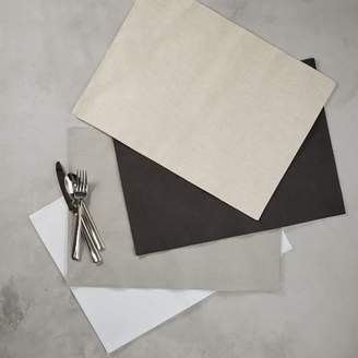 west elm Belgian Flax Linen Placemat Set - Lined