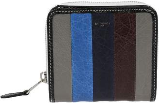 Balenciaga Striped Pattern Wallet