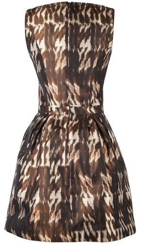 Andrew Gn Brown Print Dress