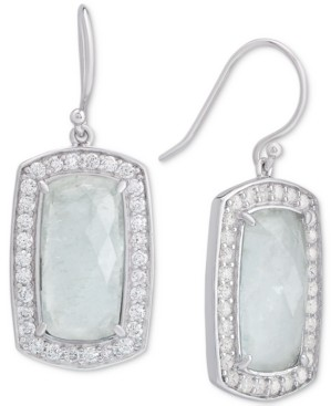 Macy's Amethyst (6-3/8 ct. t.w.) & Cubic Zirconia Drop Earrings in Sterling Silver (Also Available in Labradorite, Aqua Quartz and Rose Quartz)
