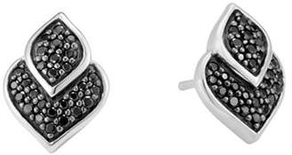 John Hardy Sterling Silver Legends Naga Black Sapphire and Black Spinel Stud Earrings
