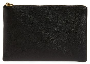 Madewell Medium Victory Leather Pouch - Burgundy