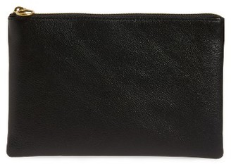 Madewell The Leather Pouch Clutch - Blue $49.50 thestylecure.com