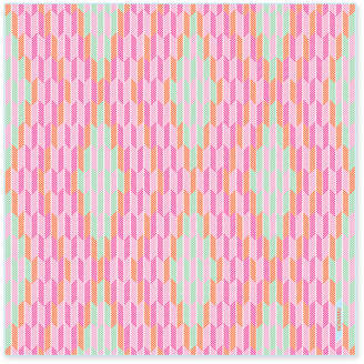 Lapis Nonamu Herringbone Silk Scarf