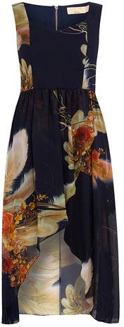 Dorothy Perkins Blue/multi printed midi dress