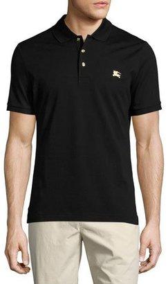 Burberry Talsworth Cotton Pique Polo Shirt, Black $275 thestylecure.com