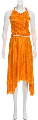 Poupette St Barth Abstract Print Wrap Dress